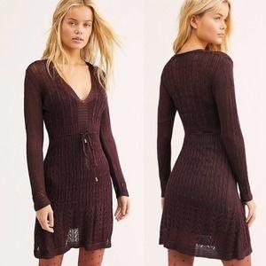 NEW Free People Jumper Knitted Mini Dress